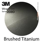 3M 2080 BR230 Film Covering Brushed Titanium