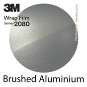 3M 2080 BR120 Film Covering Brushed Aluminium