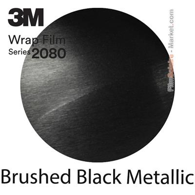 3M 2080 BR212 Film Covering Brushed Black Metallic