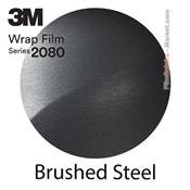 3M 2080 BR201 Film Covering Brushed Steel
